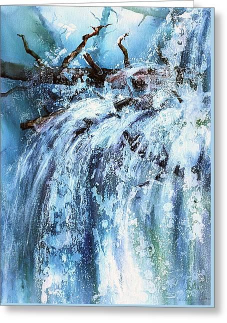 Blue Cascades Greeting Card