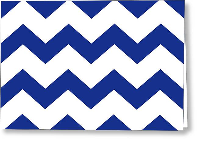 Blue Chevron Pattern Greeting Card