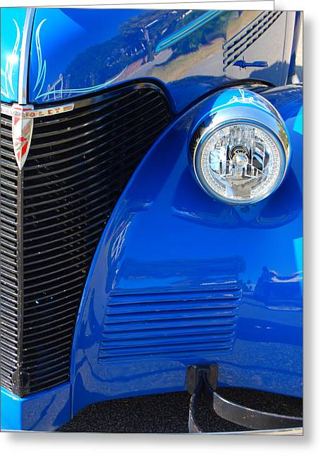 Blue Chevy Greeting Card