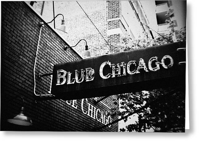 Blue Chicago Nightclub Greeting Card