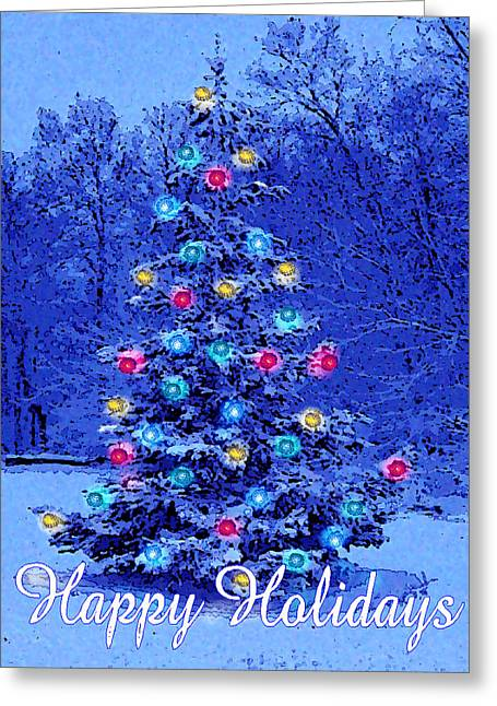 Blue Christmas Greeting Card