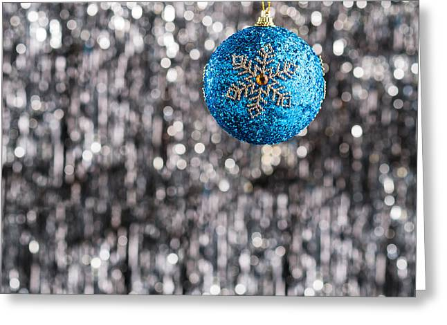 Greeting Card featuring the photograph Blue Christmas by Ulrich Schade