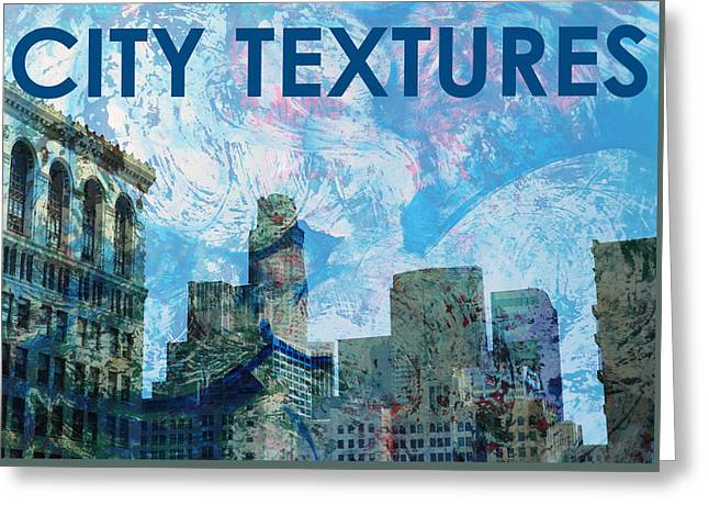 Blue City Textures Greeting Card