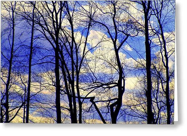 Blue Clouds Greeting Card by Aron Chervin