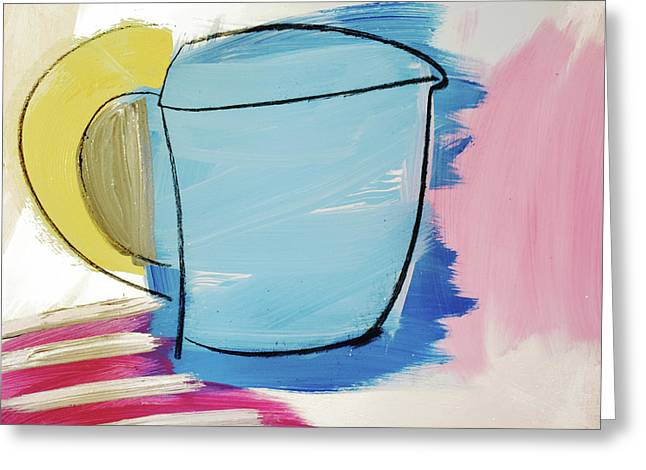 Blue Coffee Mug Greeting Card