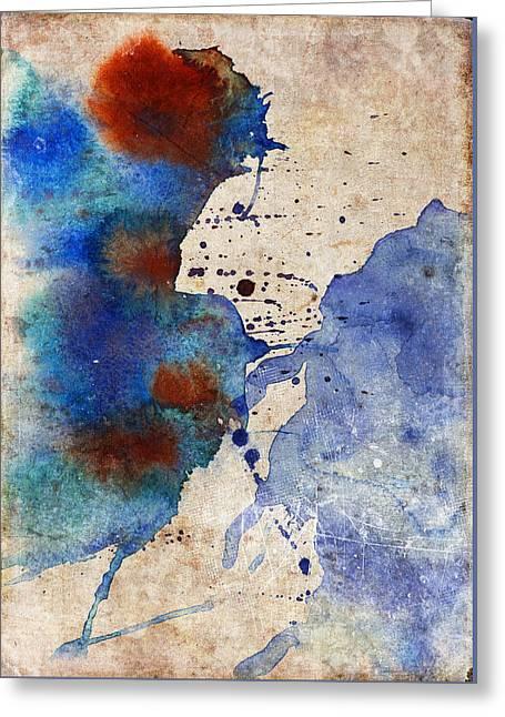 Blue Color Splash Greeting Card