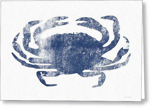 Blue Crab- Art By Linda Woods Greeting Card by Linda Woods