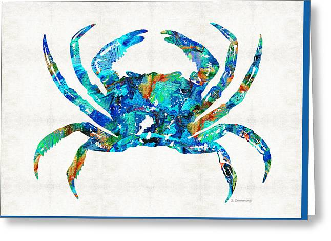Blue Crab Art By Sharon Cummings Greeting Card by Sharon Cummings