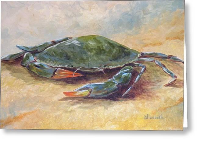 Blue Crab At Rest Greeting Card by Beth Maddox