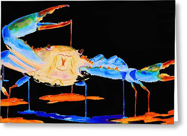 Blue Crab Two Greeting Card