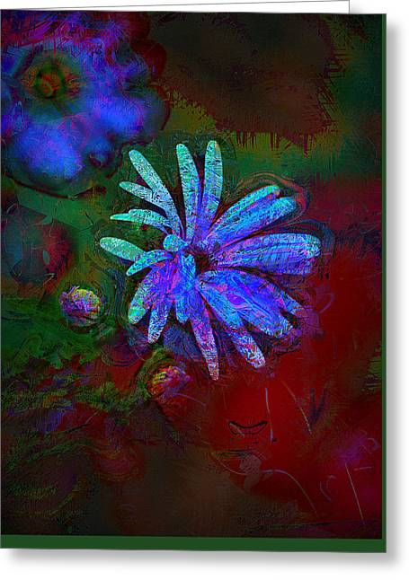Greeting Card featuring the photograph Blue Daisy by Lori Seaman