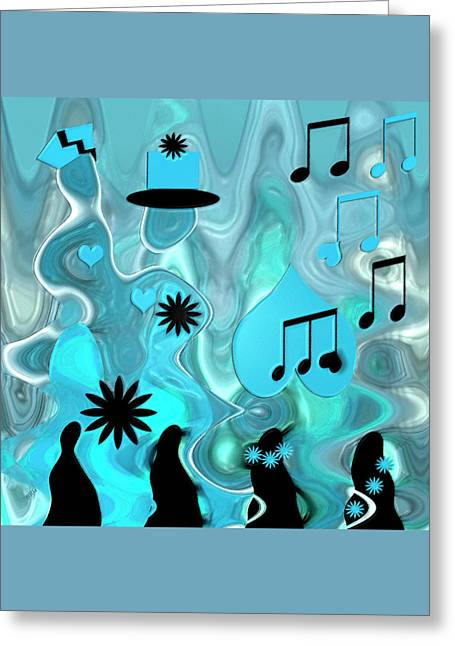 Blue Dance Greeting Card by Ben and Raisa Gertsberg