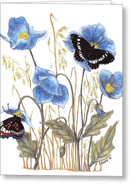 Blue-day Butterfly Greeting Card