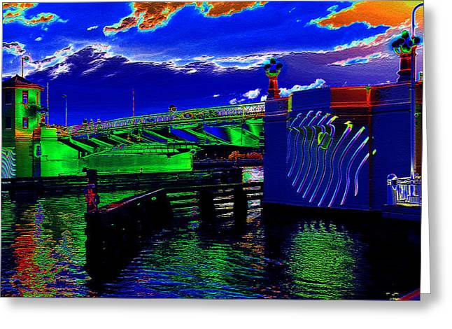 Blue Day On The Platt Street Bridge  Greeting Card by David Lee Thompson
