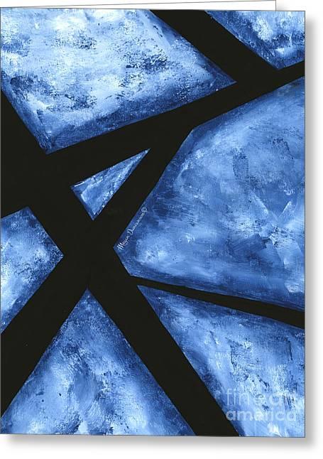 Blue Destiny An Original Contemporary Abstract Painting Original Art By Megan Duncanson Greeting Card by Megan Duncanson