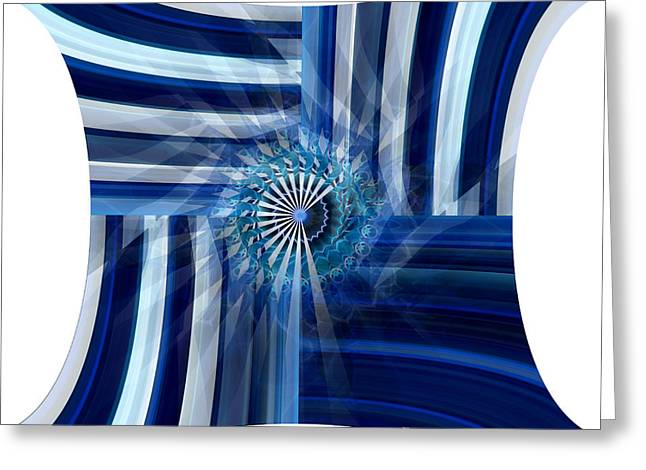 Blue Dimension  Greeting Card