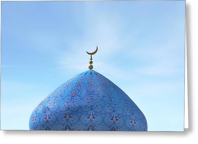 Blue Dome Greeting Card by Joana Kruse