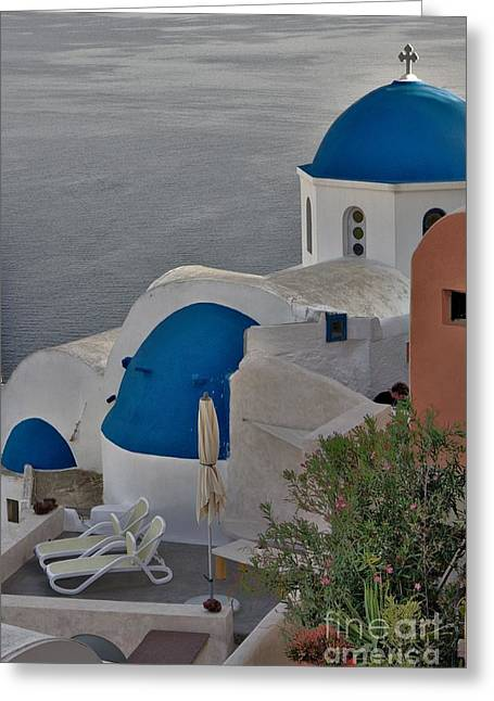Greeting Card featuring the photograph Blue Domes by Jeremy Hayden