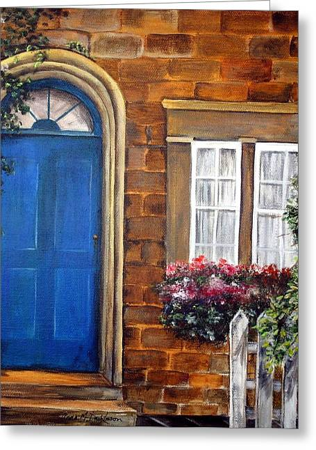 Blue Door 2 Greeting Card