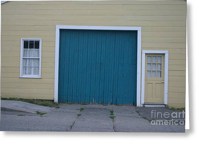 Blue Door Greeting Card by Dennis Curry