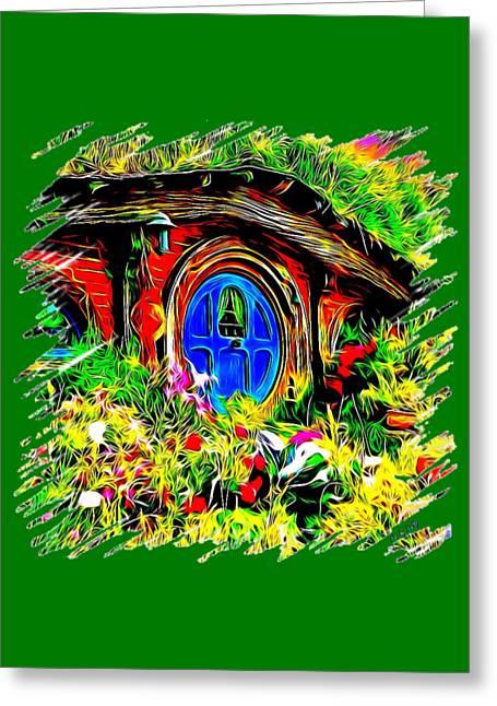 Blue Door Hobbit House-t Shirt Greeting Card