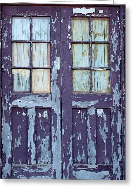Blue Door Greeting Card by John Adams