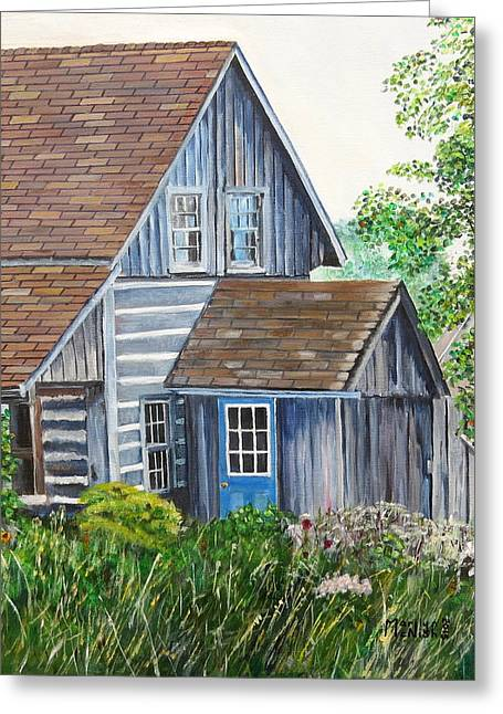 Blue Door Greeting Card by Marilyn  McNish