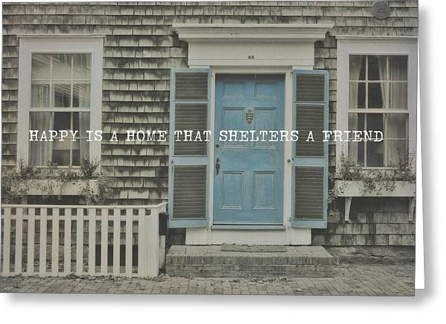 Blue Door Quote Greeting Card by JAMART Photography