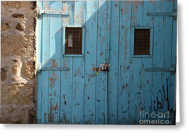 Blue Doors Greeting Card