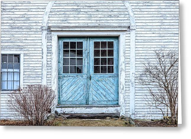 Blue Doors Greeting Card by Susan Cole Kelly
