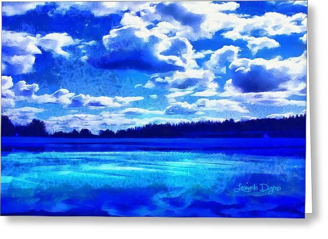 Blue Dream - Da Greeting Card by Leonardo Digenio