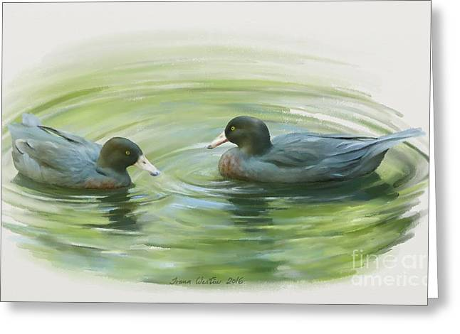 Blue Ducks  Greeting Card