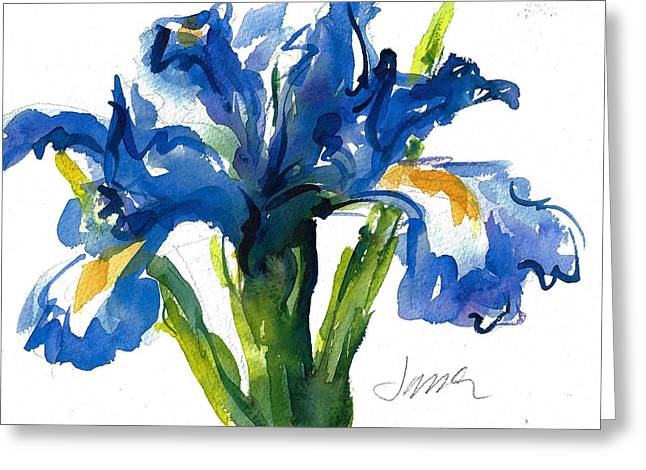 Blue Dutch Iris For Kappa Kappa Gamma Greeting Card