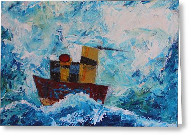 Blue Easterly Greeting Card by Charlie Spear