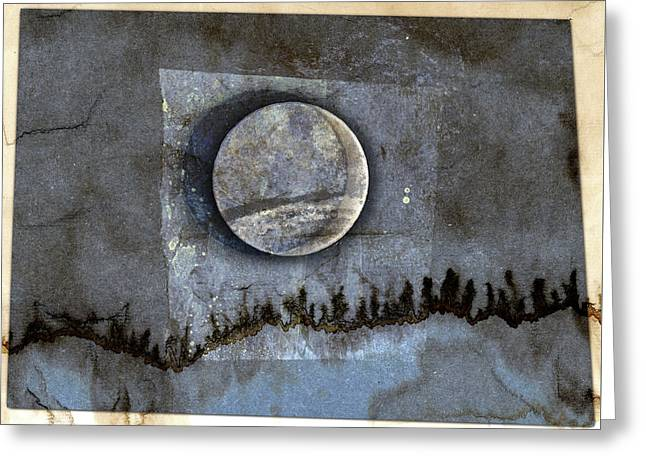 Blue Eclipse Greeting Card