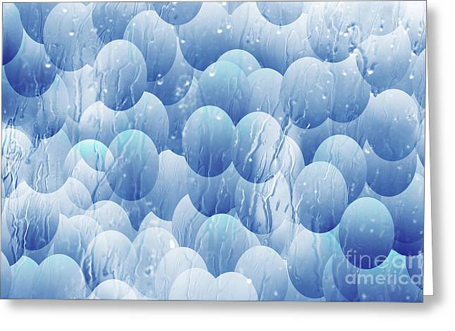 Greeting Card featuring the photograph Blue Eggs - Abstract Background by Michal Boubin