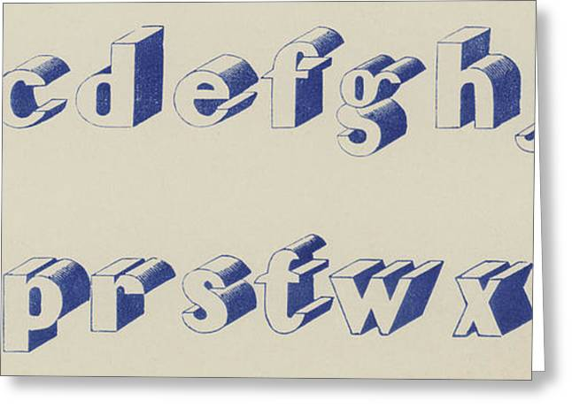 Blue Egyptian Font Greeting Card