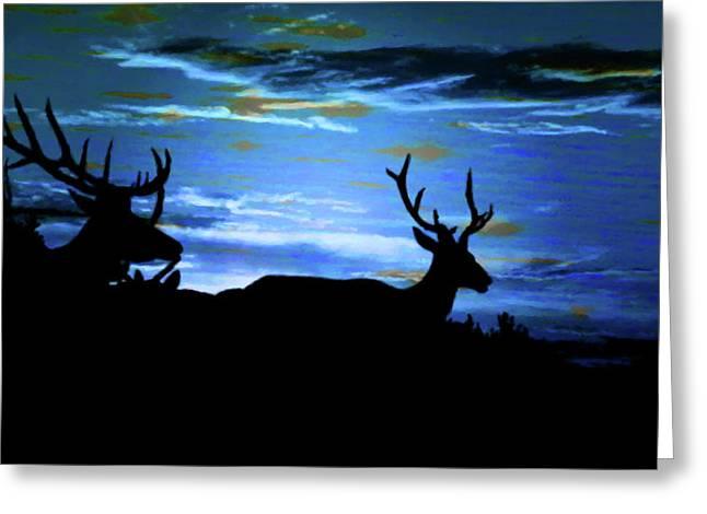 Blue Elk Dreamscape Greeting Card