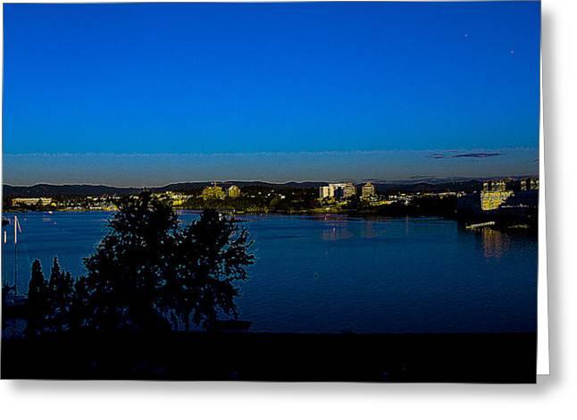 Blue Evening Greeting Card by Diane C Nicholson