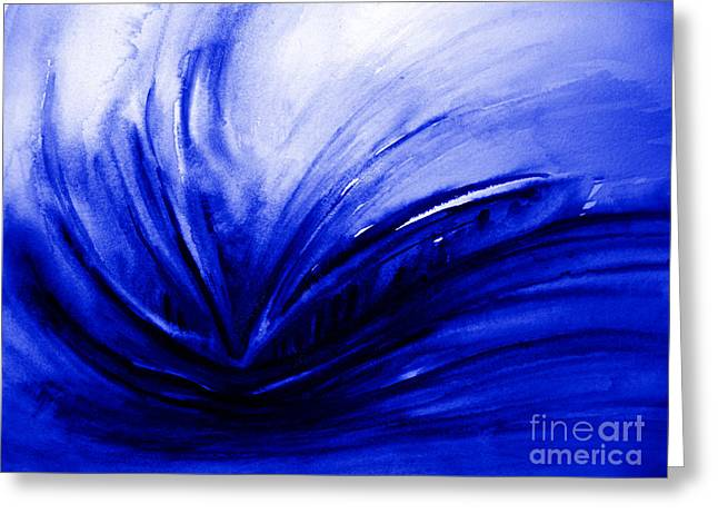 Greeting Card featuring the painting Blue Expression by Allison Ashton