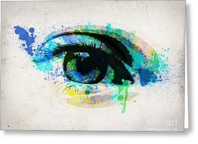 Blue Eye 8x10 Greeting Card by Delphimages Photo Creations