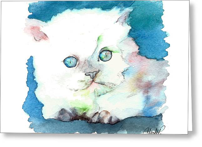 Blue Eyed Kitten Greeting Card