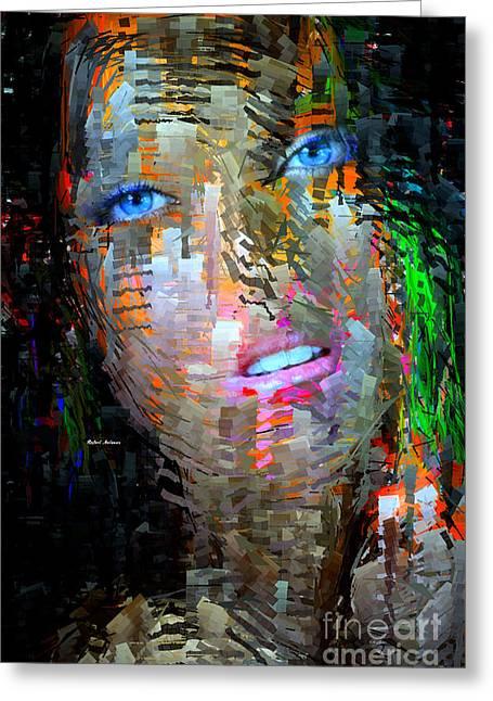 Blue Eyes  Greeting Card by Rafael Salazar
