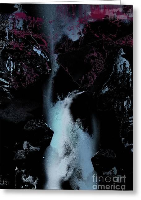 Blue Falls Greeting Card by Bruno Santoro