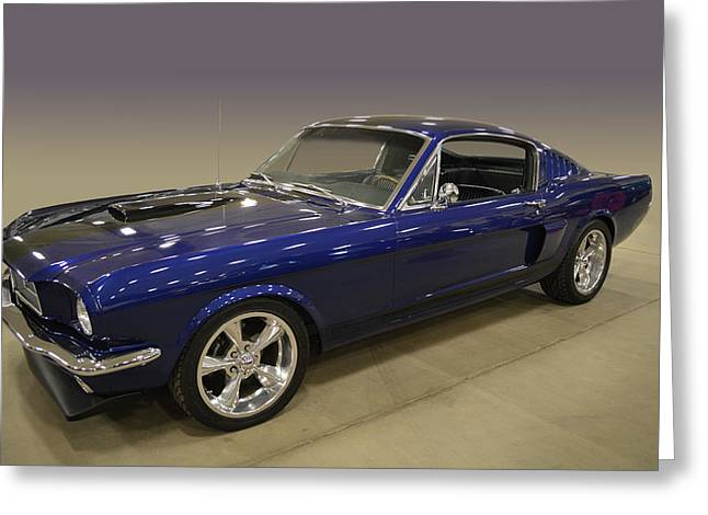 Blue Fastback Greeting Card by Bill Dutting