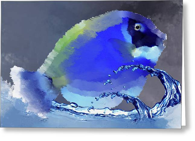 Blue Fish Greeting Card by Art Spectrum