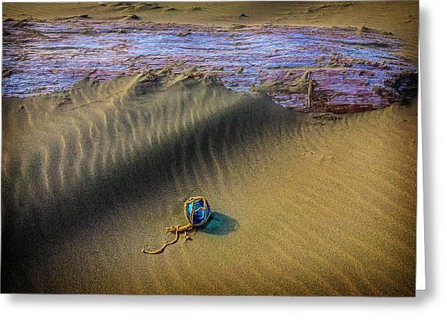 Blue Fishing Net Float Greeting Card