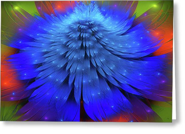 Blue Flower  Greeting Card by Larissa Davydova