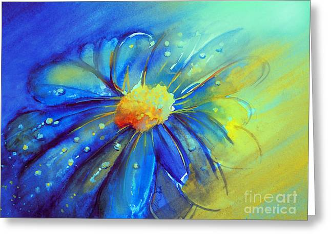 Blue Flower Offering Greeting Card