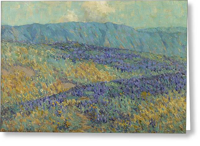 Blue Flowers Greeting Card by Granville Redmond